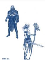 Skeletor doodles by molee