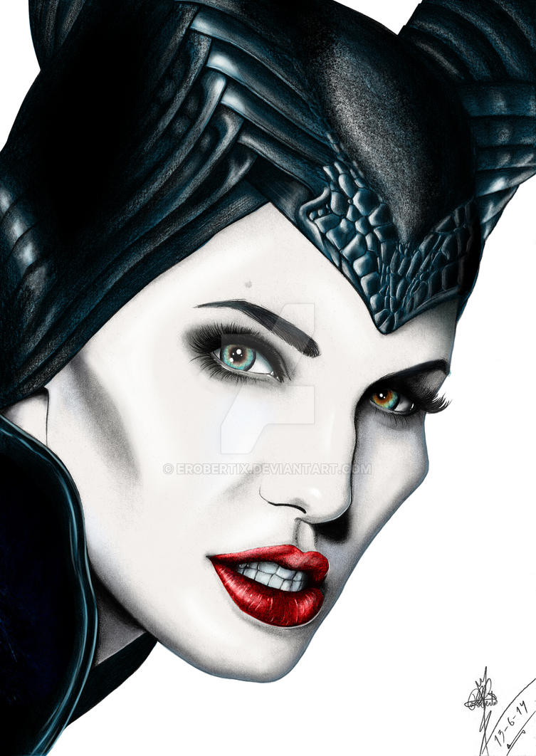 Maleficent painted by Erobertix