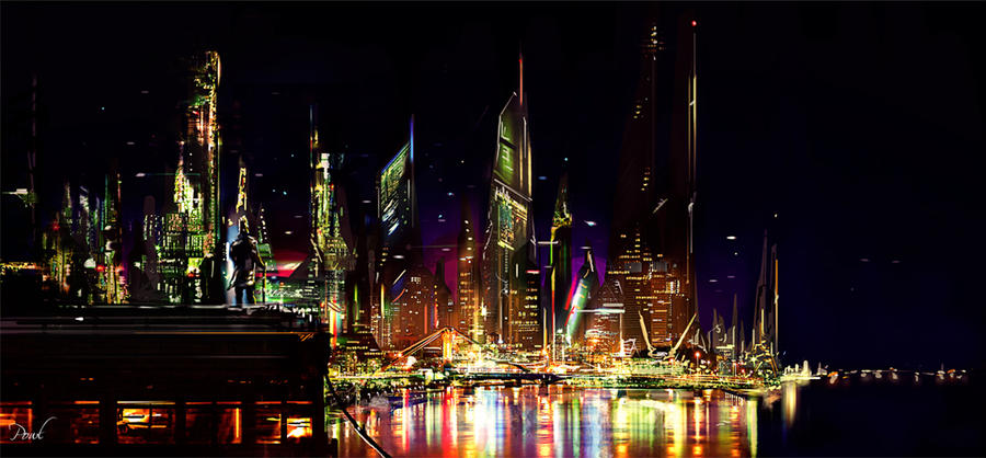 Night Cityscape by Powl96