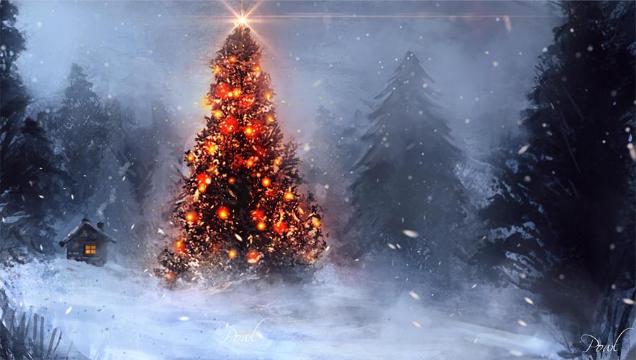 Christmas tree by Powl96