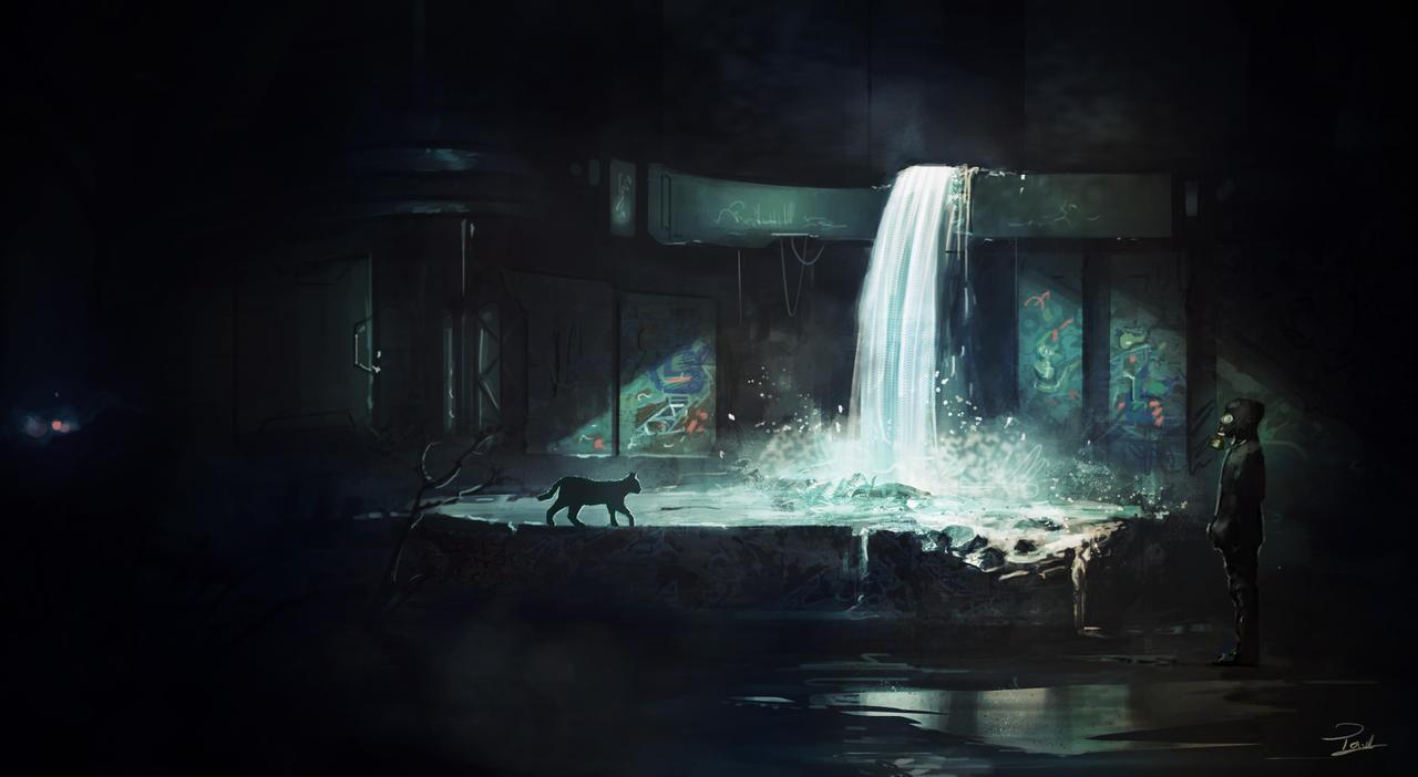 Waterfall light by Powl96