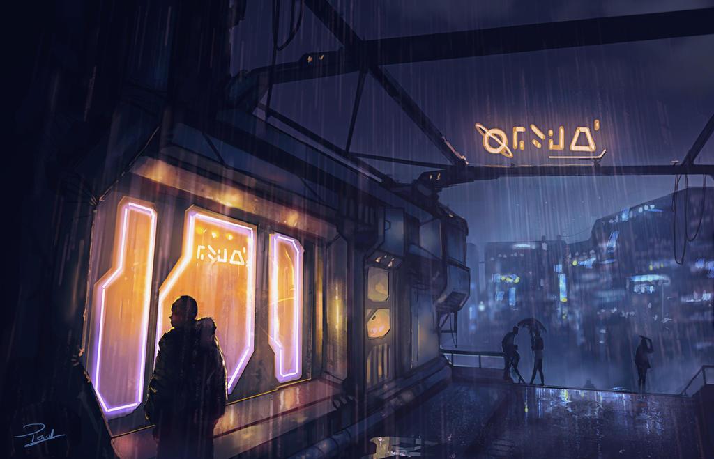 Raining by Powl96