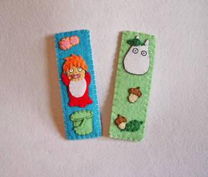Felt Ghibli Bookmarks by OkashiBurochi