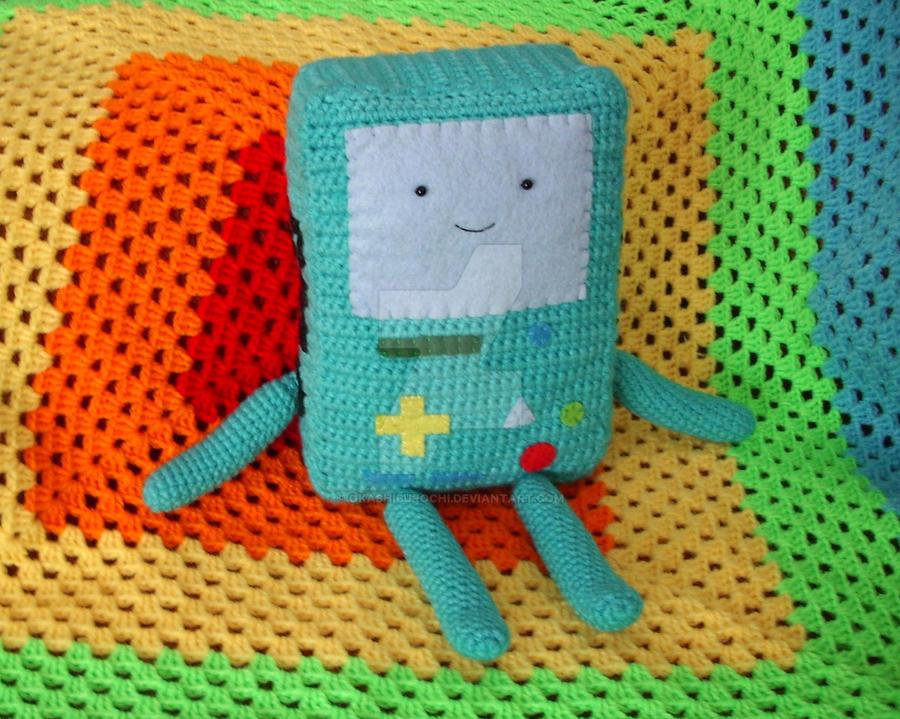 Amigurumi Beemo : Crocheted BMO plushie by OkashiBurochi on DeviantArt