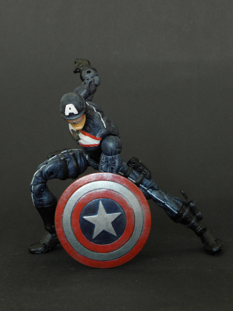 Marvel Legends Captain America in action by LuXuSik