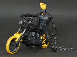 Marvel Legends Ghost Rider custom with hellcycle