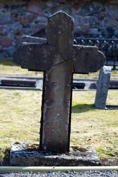 Stock Gravestone Cross