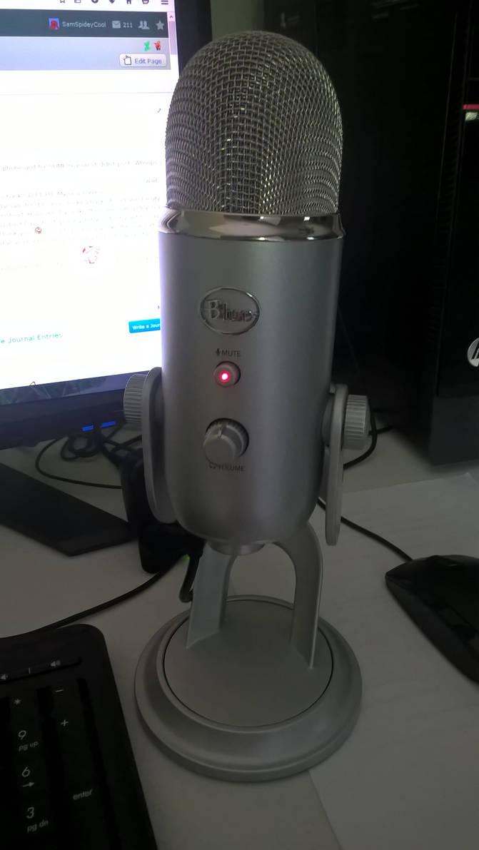 My New Blue Yeti Microphone! by SamSpideyCool on DeviantArt