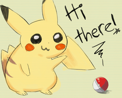 Pikachu says hi thar by The-EverLasting-Ash