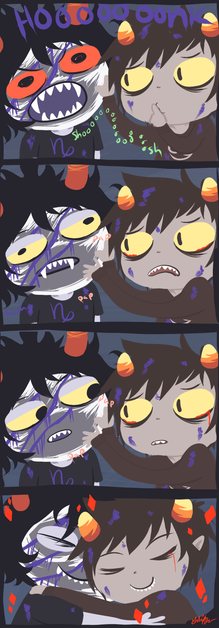 Karkat Kills Gamzee Karkat And Gamzee Hug by