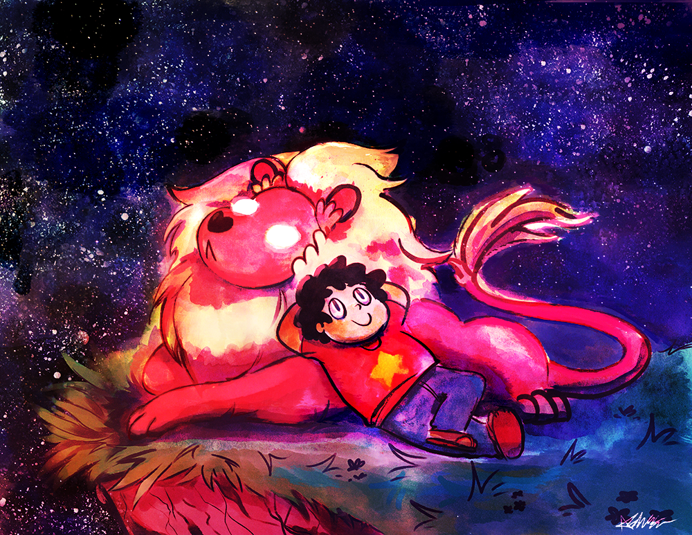 Steven and Lion by The-EverLasting-Ash