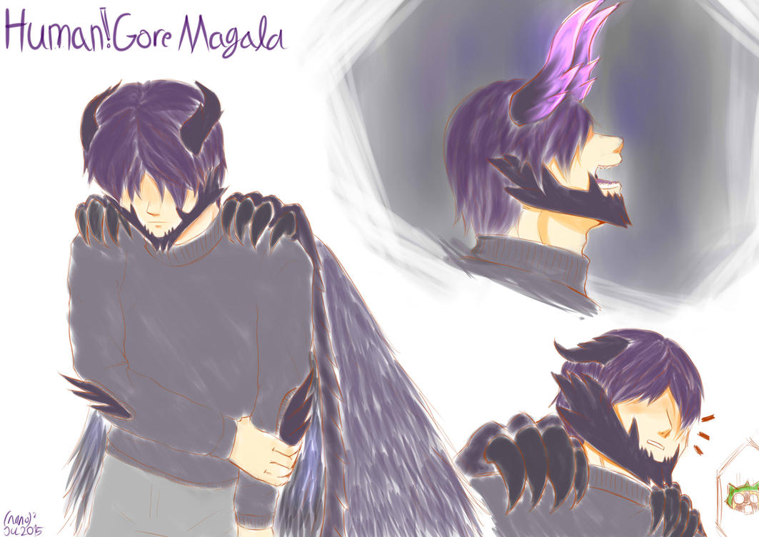 Gore Magala Gijinka sketch by nanoquadrate