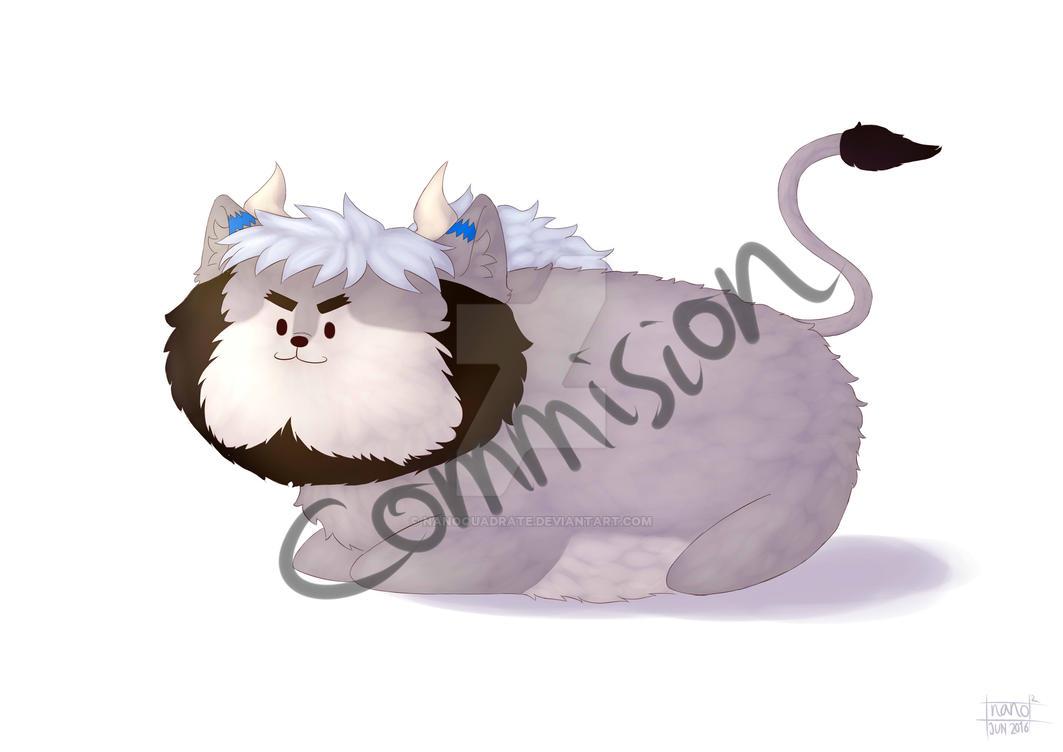 Commision: Aozora Fluffball Edition by nanoquadrate