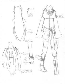 [Ring of Fates] Clothing Design Sheet - Violen