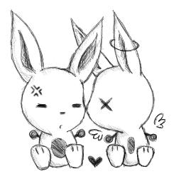 Bunnies by CharmDrops