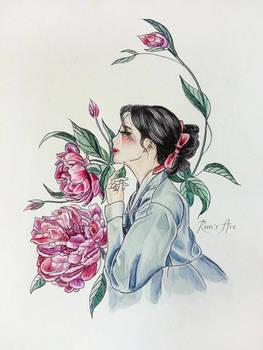 Peonies [Hanbok girls]