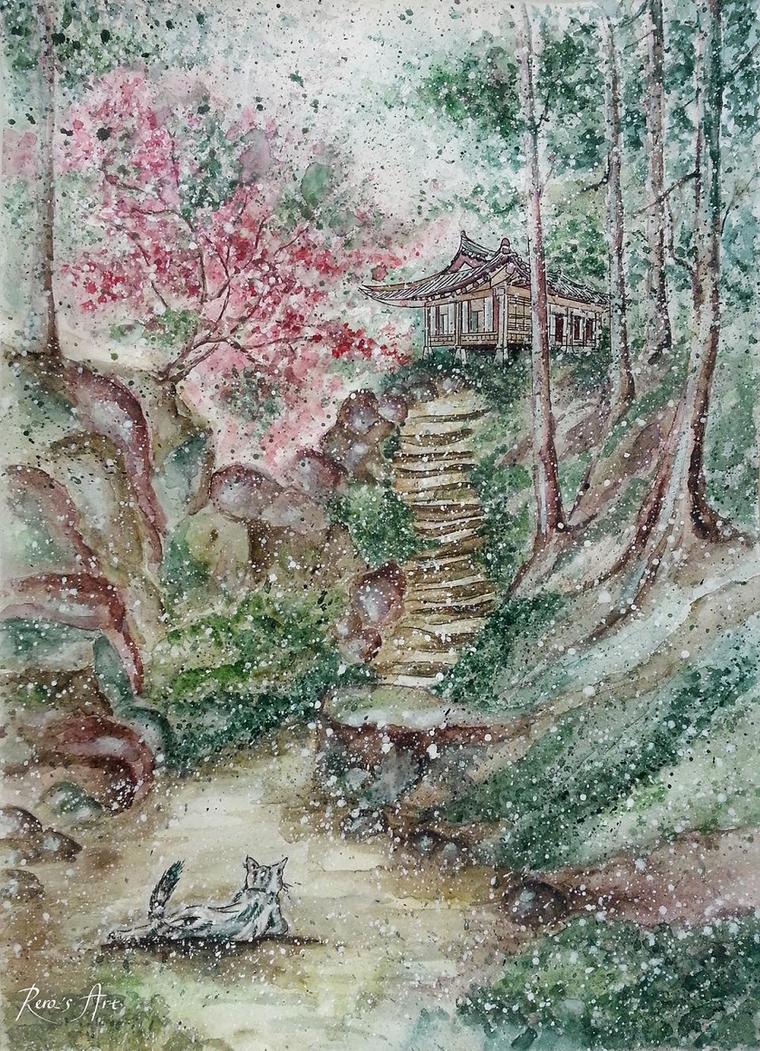 Old hanok by Reraartist