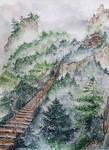 Hazy road by Reraartist