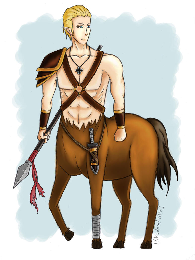 Hetalia APH : Germany the Centaur by youngthong-art