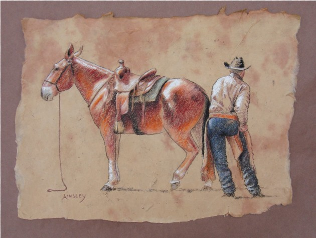 chaps and a mule by AinsleyM