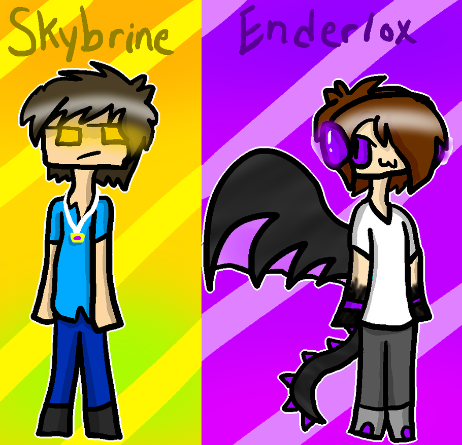 Skybrine and Enderlox by celiest on DeviantArt