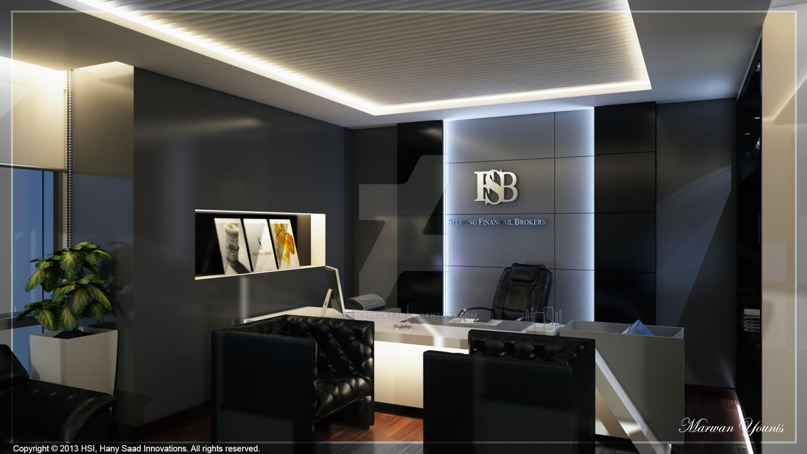 Ceo office 03 by apexlpredator on deviantart for Best executive office design