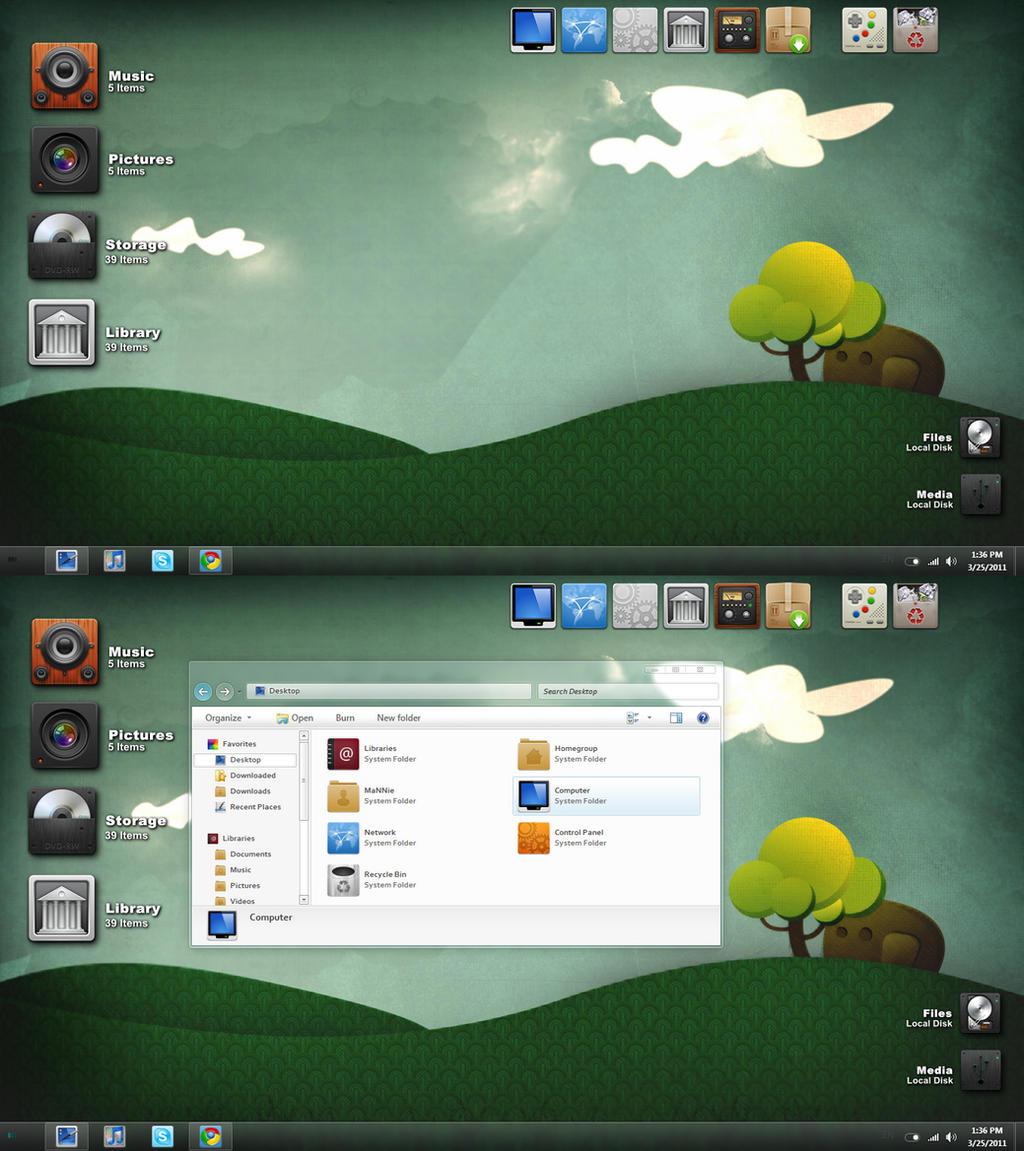 Desktop Forest by mannier0x