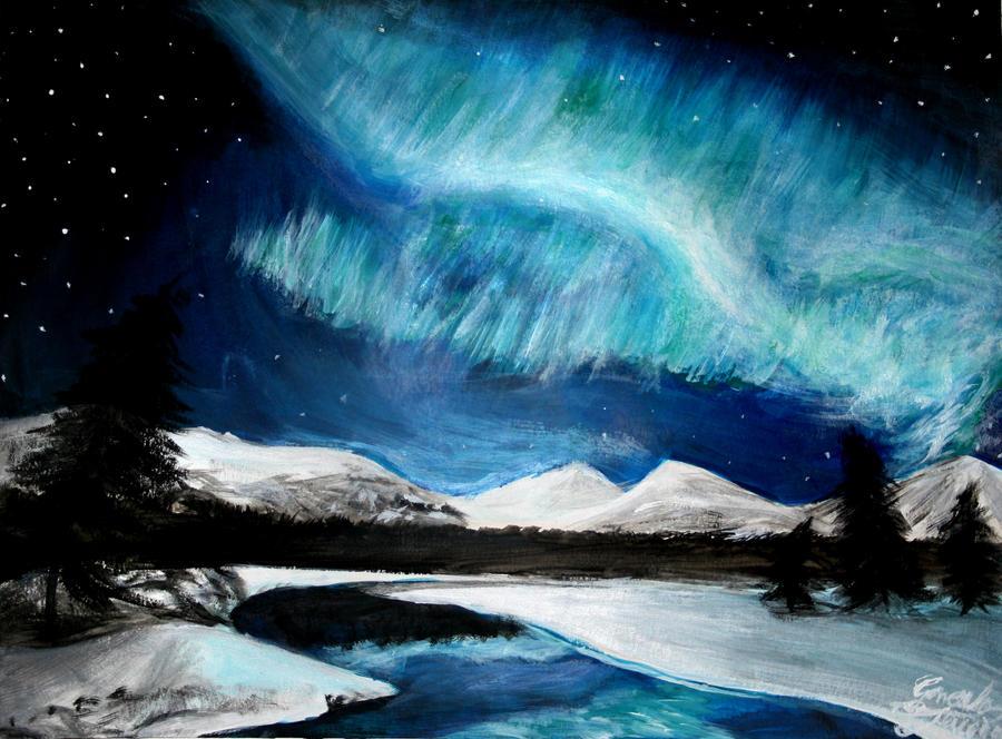 Alascan Aurora by Krathalos