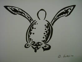 Tribal Green Turtle by 2Halves