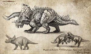 Hyperendocrin Triceratops by EmilyStepp