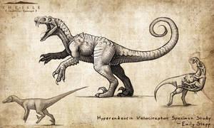 Hyperendocrin Velociraptor by EmilyStepp