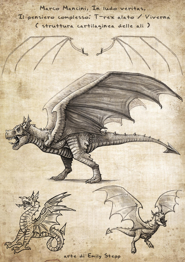 Tyrannosaurus rex Wyvern by EmilyStepp
