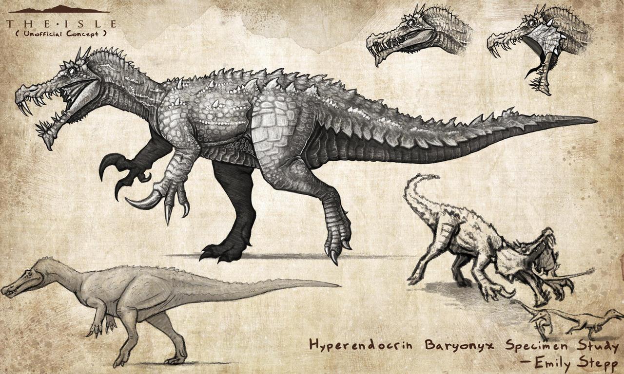 Hyperendocrin Baryonyx by EmilyStepp
