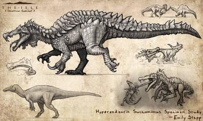 Hyperendocrin Suchomimus by EmilyStepp