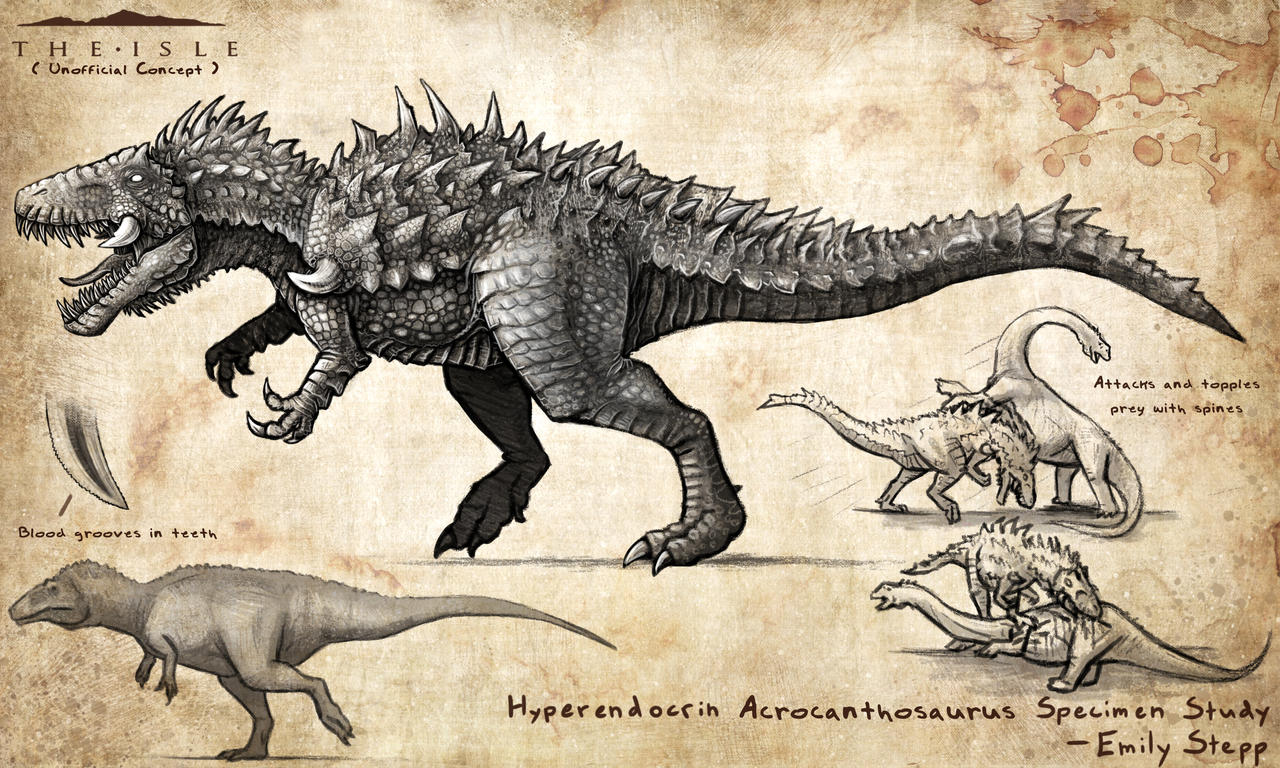 Hyperendocrin Acrocanthosaurus by EmilyStepp on DeviantArt