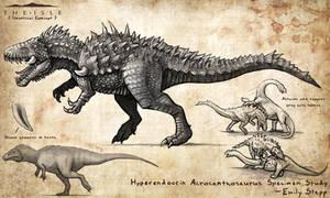 Hyperendocrin Acrocanthosaurus by EmilyStepp