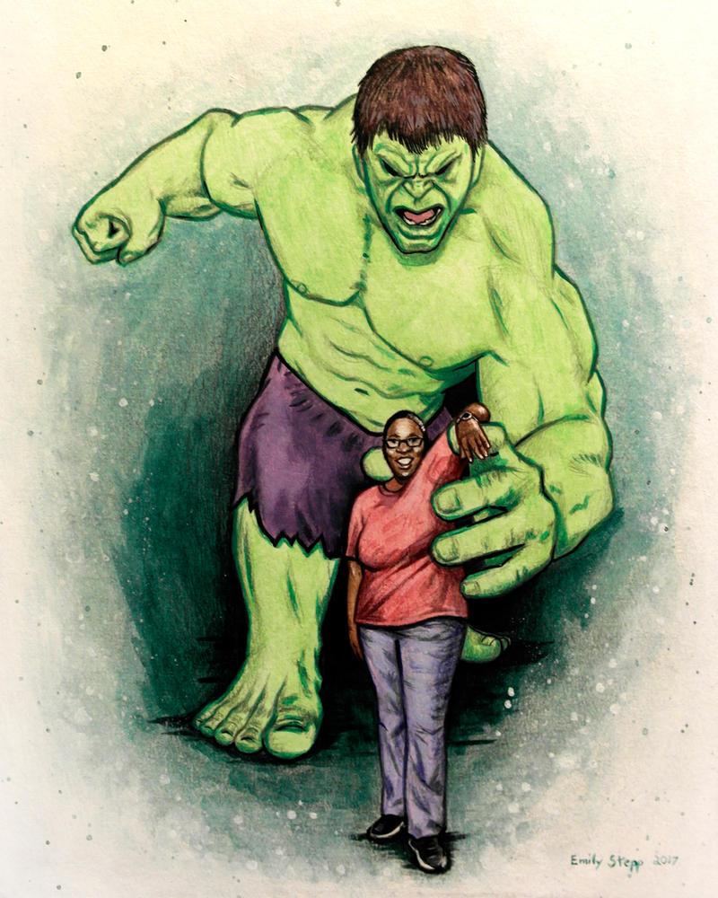 Tiffany and The Hulk by EmilyStepp