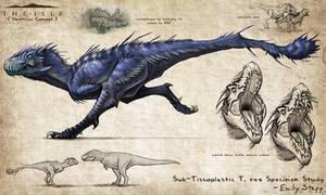 Sub-Tissoplastic T. rex Concept by EmilyStepp