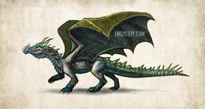 Crocodile Dragon Concept Commission
