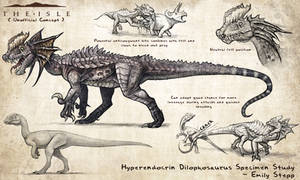 Hyperendocrin Dilophosaurus Fan Concept by EmilyStepp