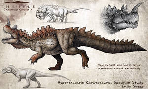 Hyperendocrin Ceratosaurus Fan Concept by EmilyStepp