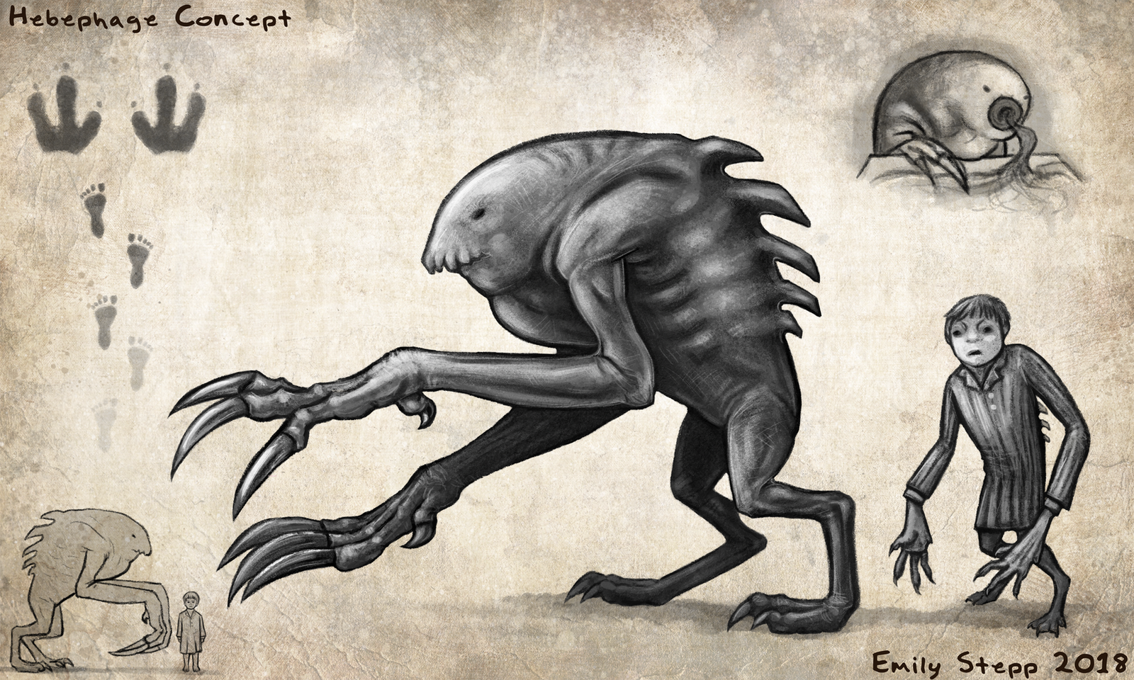 Hebephage Creature Concept by EmilyStepp