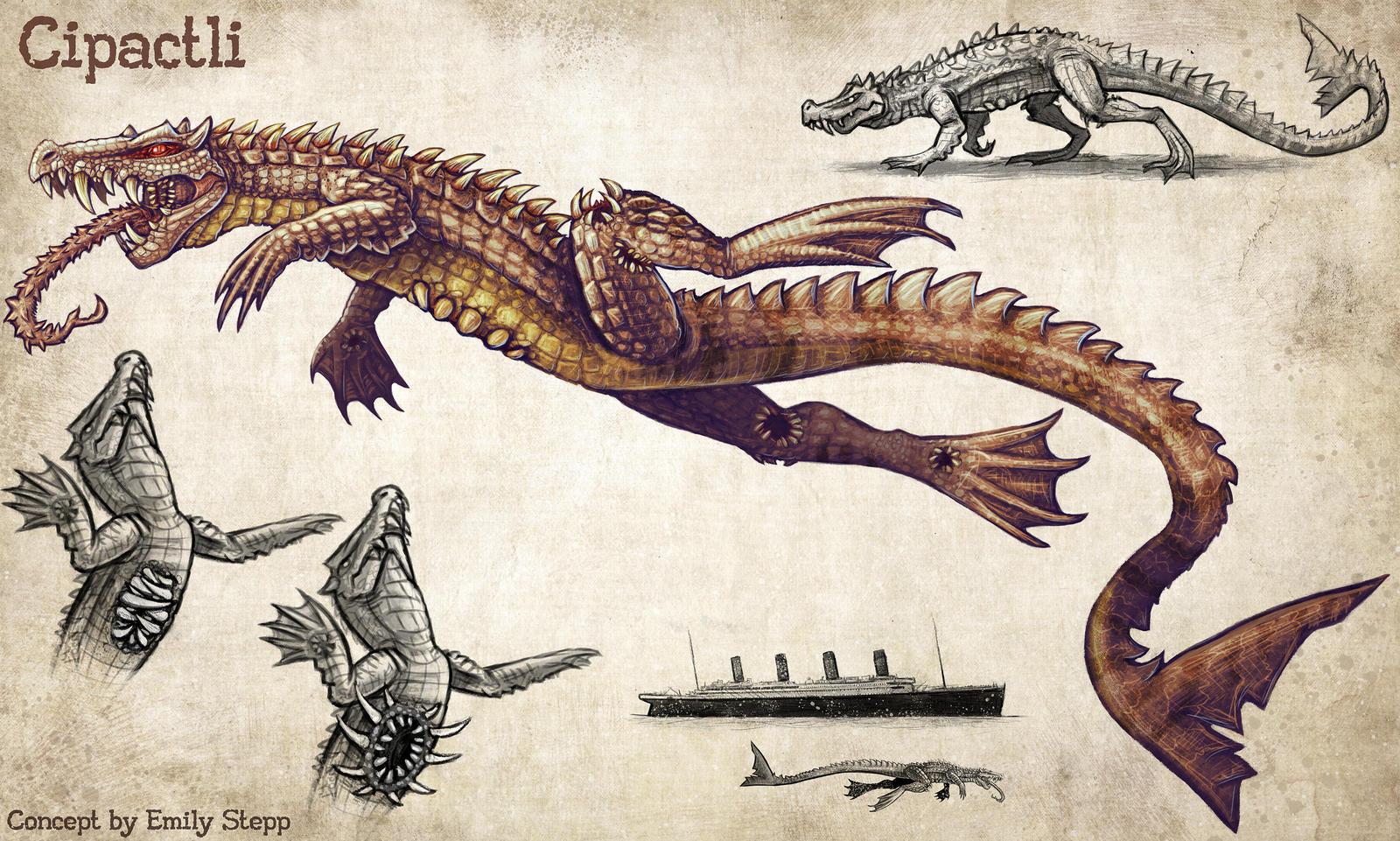 Cipactli Creature Concept by EmilyStepp