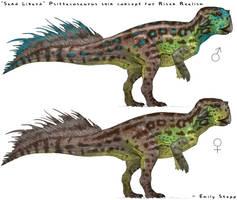Sand Lizard Psittacosaurus Skin Concept by EmilyStepp