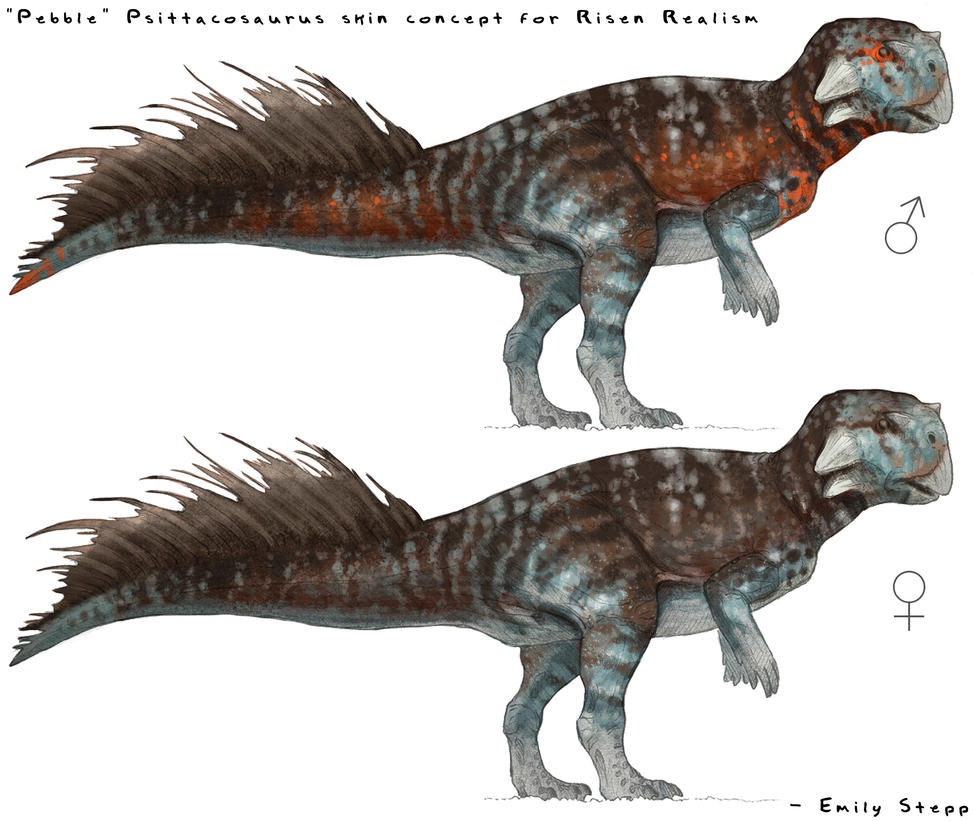 Pebble Psittacosaurus Skin Concept by EmilyStepp