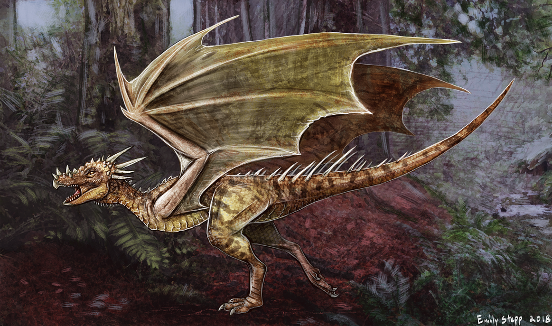 Dracorex hogwartsia Dragon Concept Commission by EmilyStepp