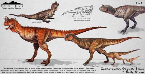 The Isle Carnotaurus Growth Fan Concept by EmilyStepp