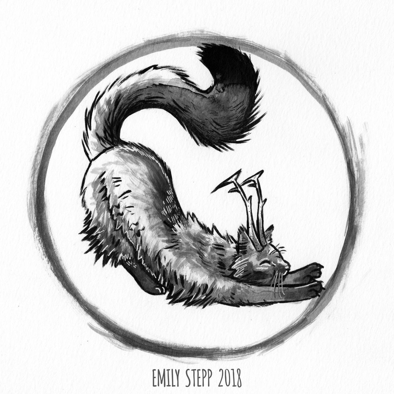 Inktober 2018 Day 26 Stretch by EmilyStepp