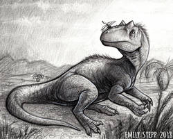 DrawDinovember Day 1 Allosaurus by EmilyStepp
