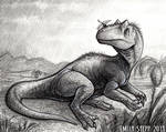 DrawDinovember Day 1 Allosaurus